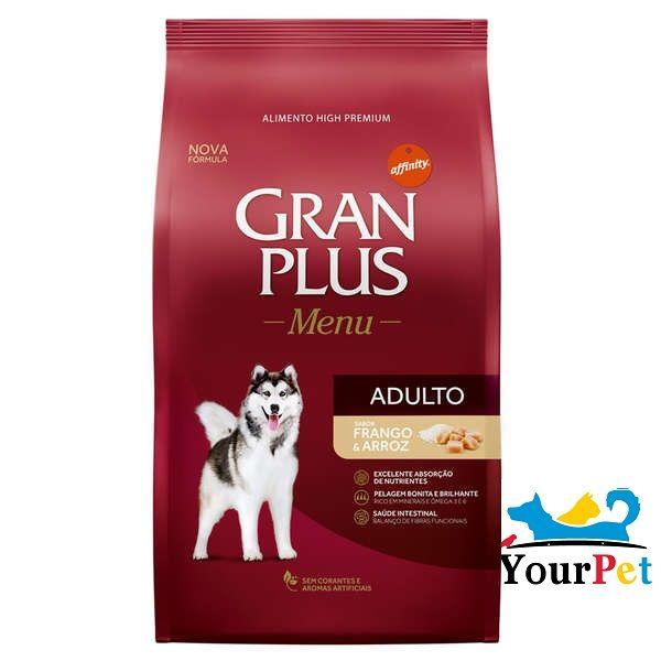 Ração Gran Plus Cães Menu Frango e Arroz para Cães Adultos (15 kg) - Guabi
