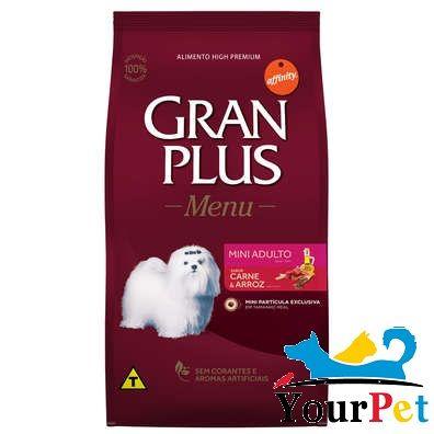 Ração Gran Plus Menu Mini Adulto Carne e Arroz para Cães Adultos de Raças Mini e Pequenas (15 kg) - Guabi Affinity
