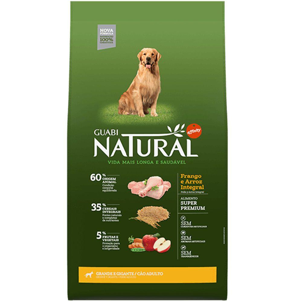 Ração Guabi Natural Cães Adultos Grandes e Gigantes Frango e Arroz Integral (15 kg) - Affinity Guabi