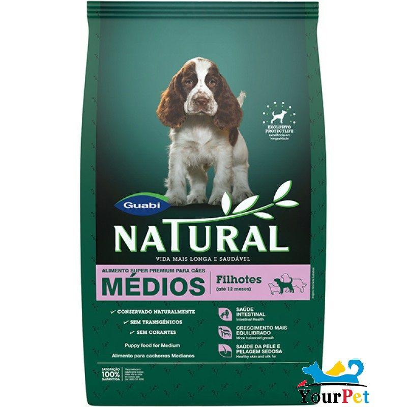 Ração Guabi Natural Cães Filhotes de Porte Médio (2,5 kg)