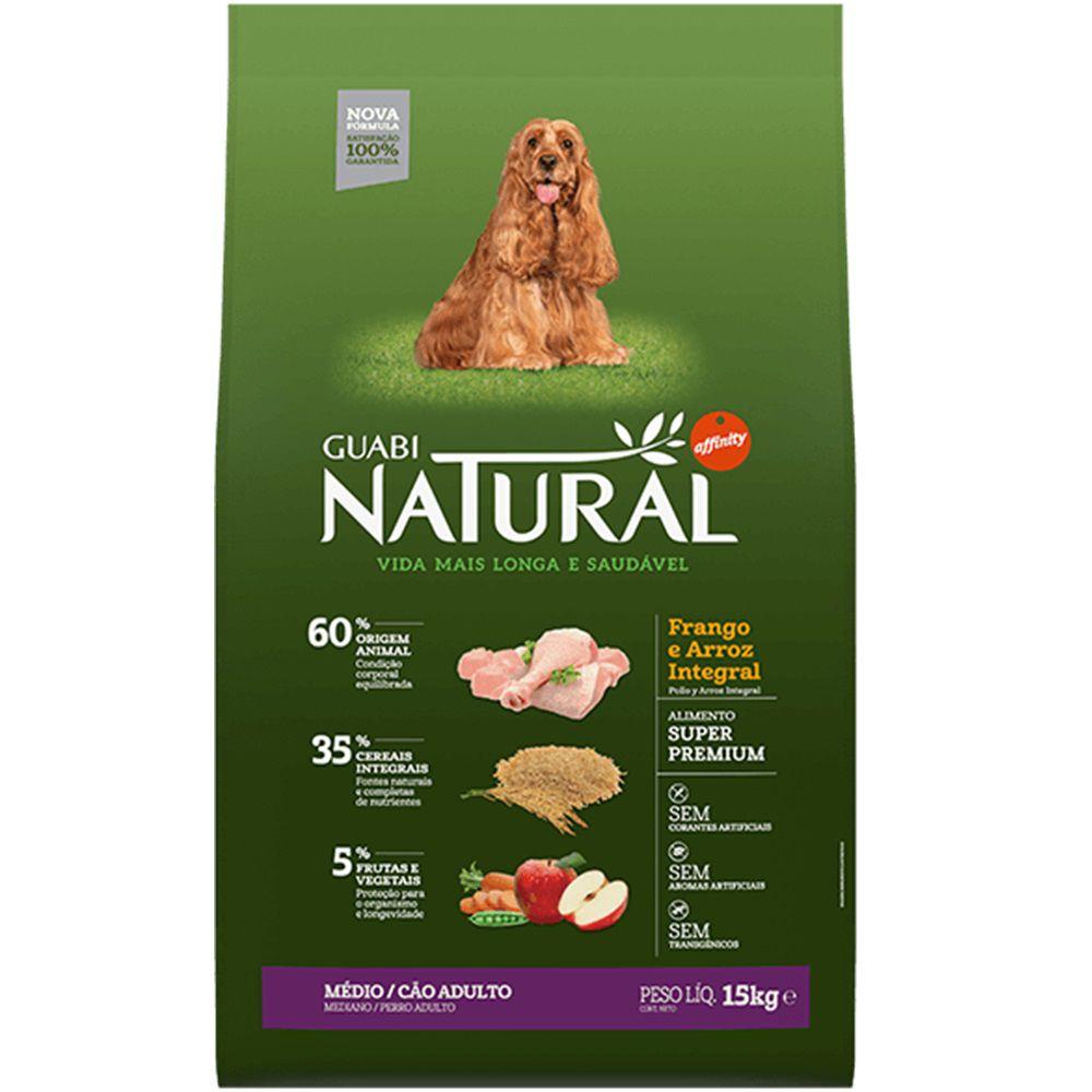 Ração Guabi Natural Cão Adult Médio Frango Arroz Integ 2,5kg