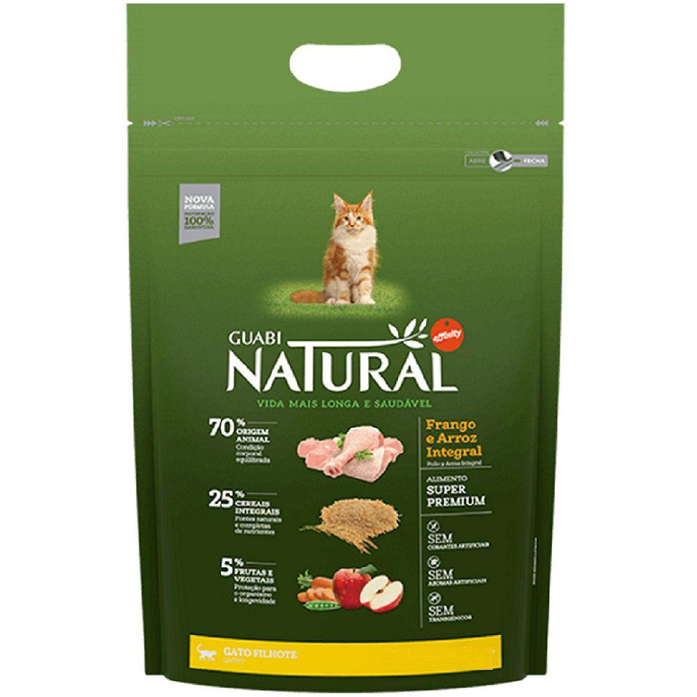 Ração Guabi Natural Gato Filhote Frango Arroz Integral 1,5kg