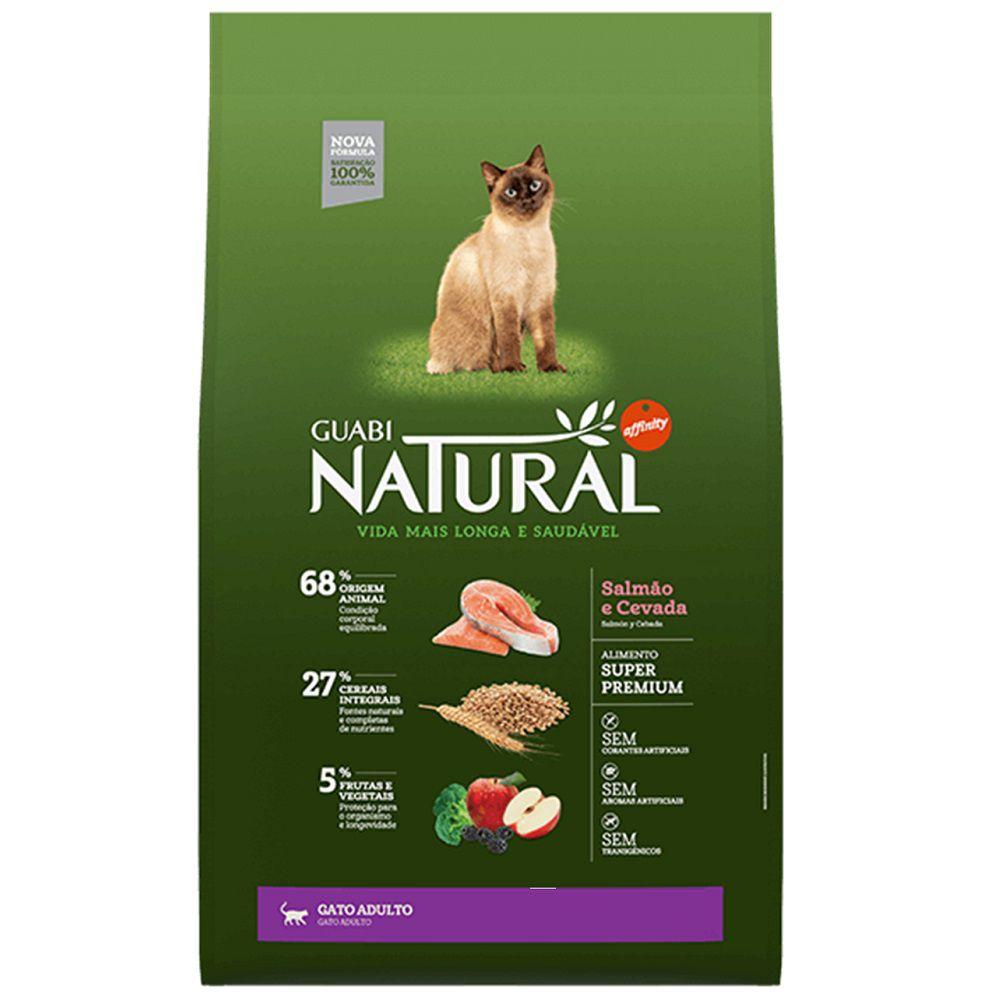 Ração Guabi Natural Gatos Adultos Salmão e Cevada (1,5 kg)