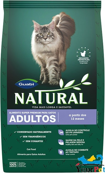 Ração Guabi Natural para Gatos Adultos (1,5 kg)