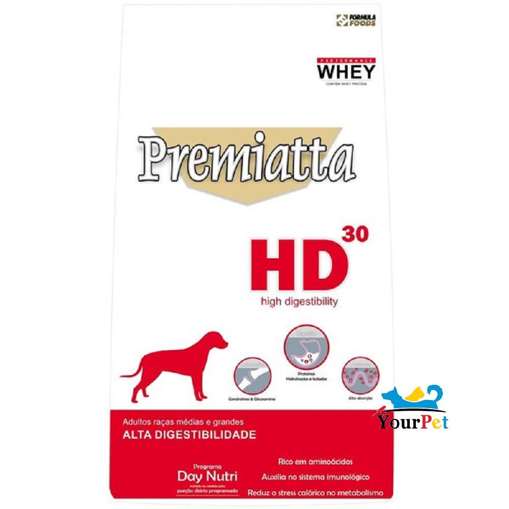 Ração Premiatta HD 30 Raças Médias e Grandes para Cães Adultos (12 kg)