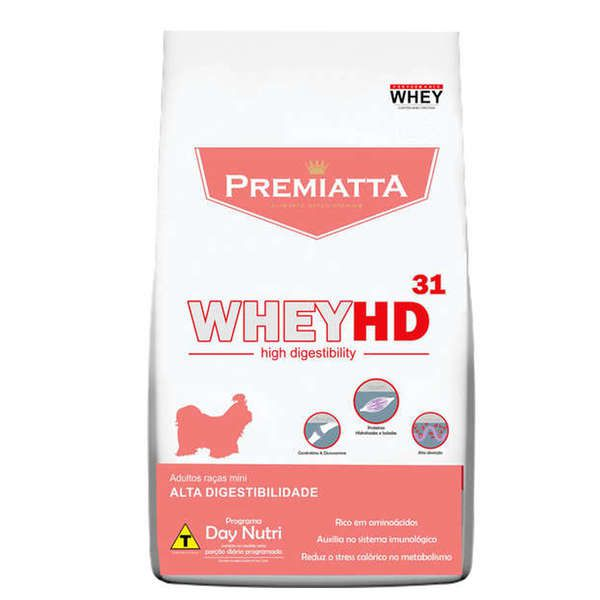 Ração Premiatta HD 31 Raças Miniaturas para Cães Adultos (3 kg - 30 pacotes com 100g cada)