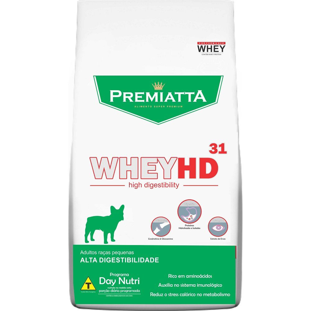 Ração Premiatta Whey HD 31 para Cães Adultos de Raças Pequenas Lágrima Ácida (3 kg=15x200g)