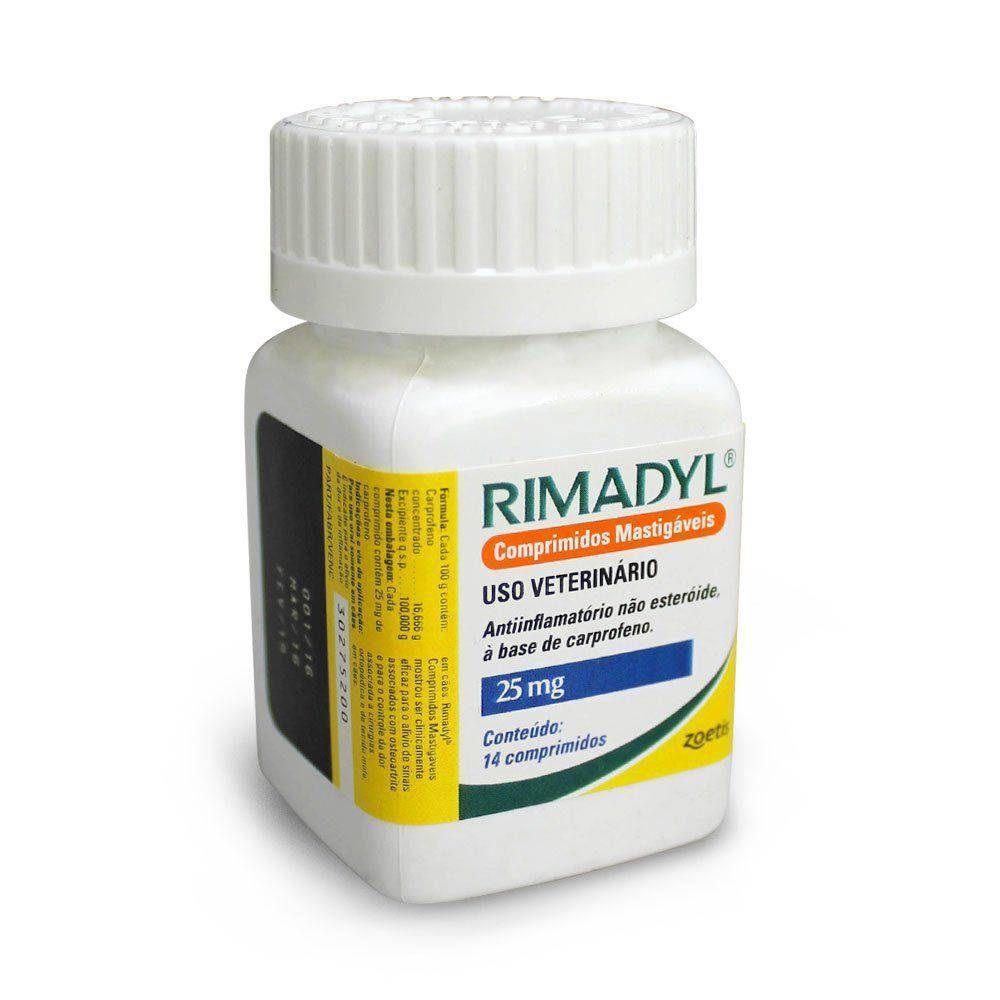 Rimadyl 25mg - Anti-inflamatório para Cães à base de Carprofeno - Agener (14 comprimidos palatáveis)