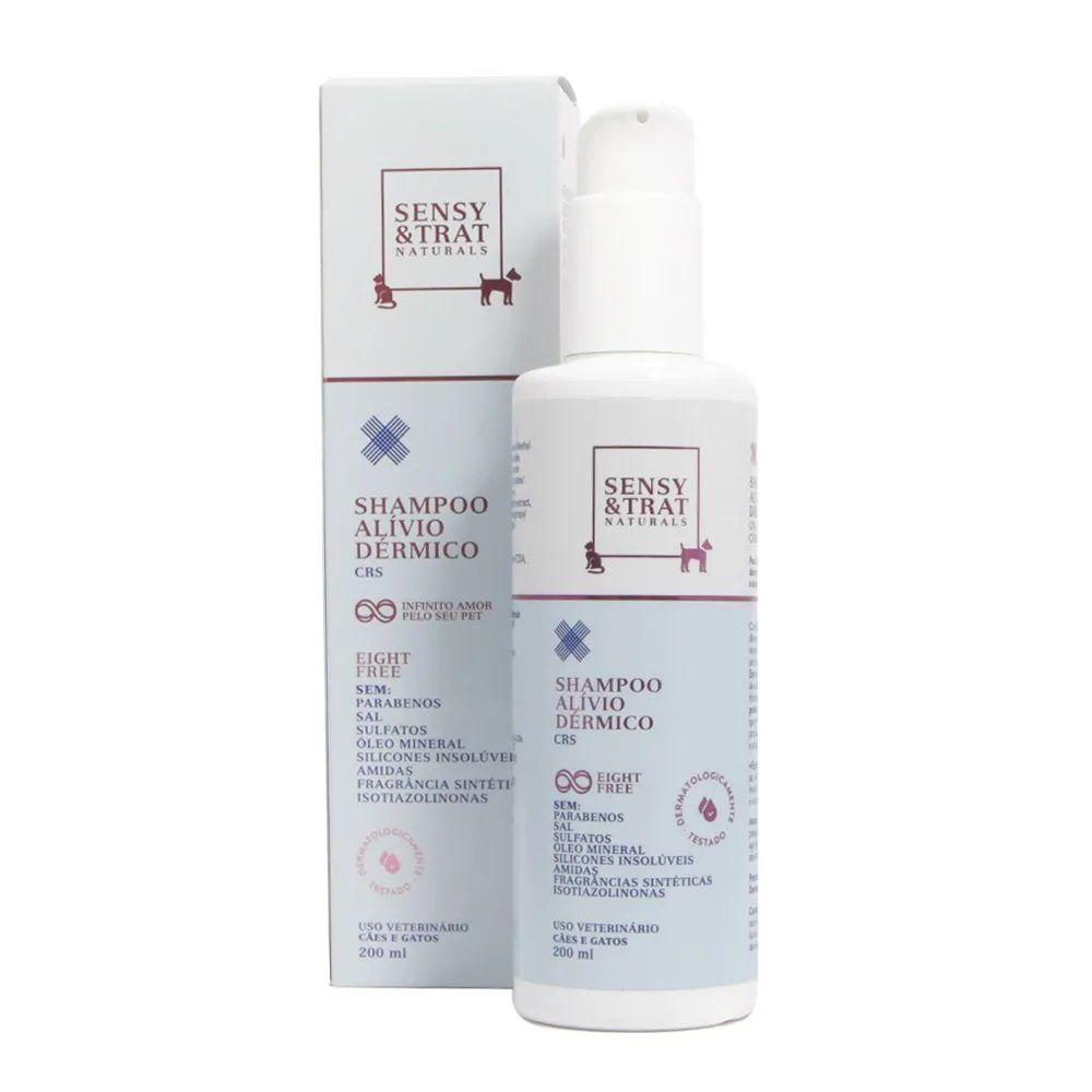 Shampoo Alívio Dérmico Sensy & Trat Para banho e hidratação das peles secas e atópicas de Cães e Gatos (200 ml)