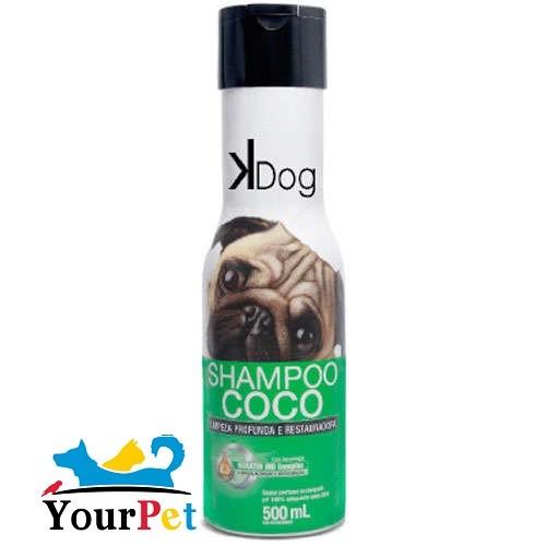 Shampoo Coco K Dog - Limpeza Profunda e Restauradora para Cães e Gatos - Total Química (500 ml)