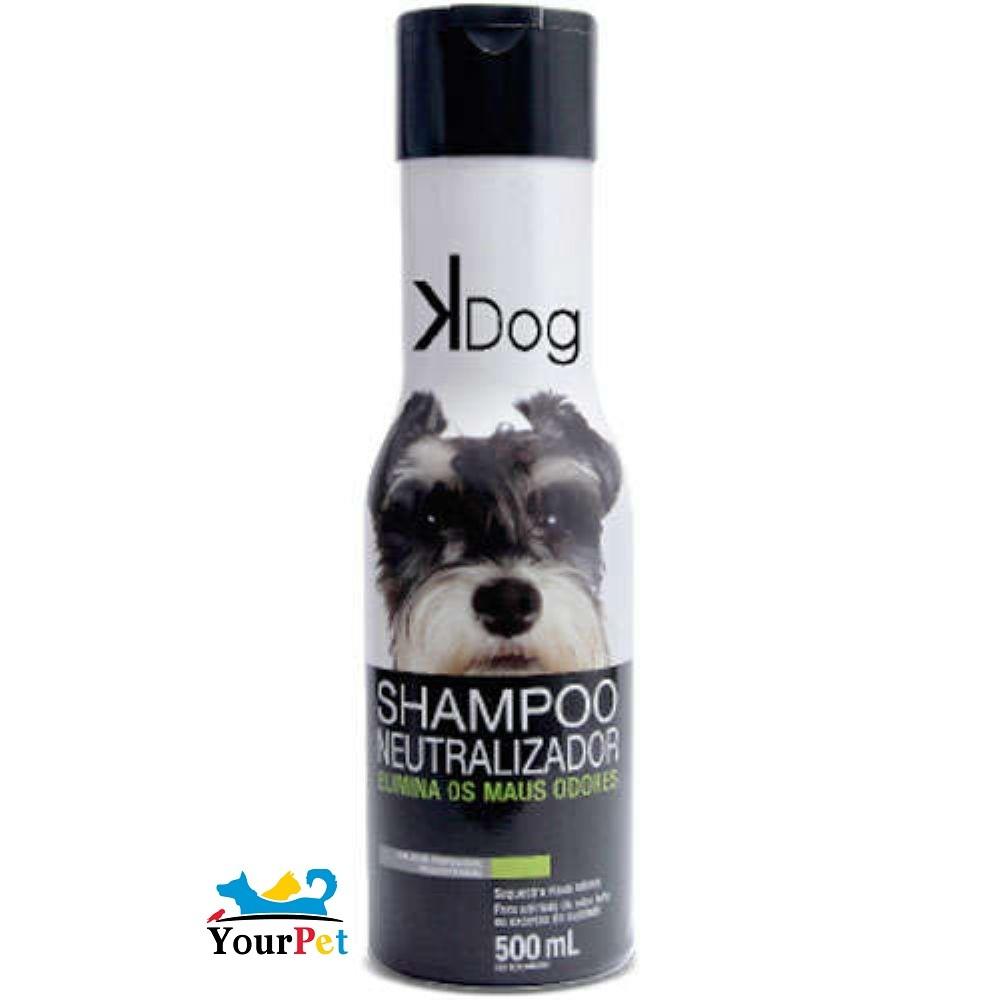 Shampoo Neutralizador de Odores K Dog - Elimina os Maus Odores em Cães e Gatos - Total Química (500 ml)