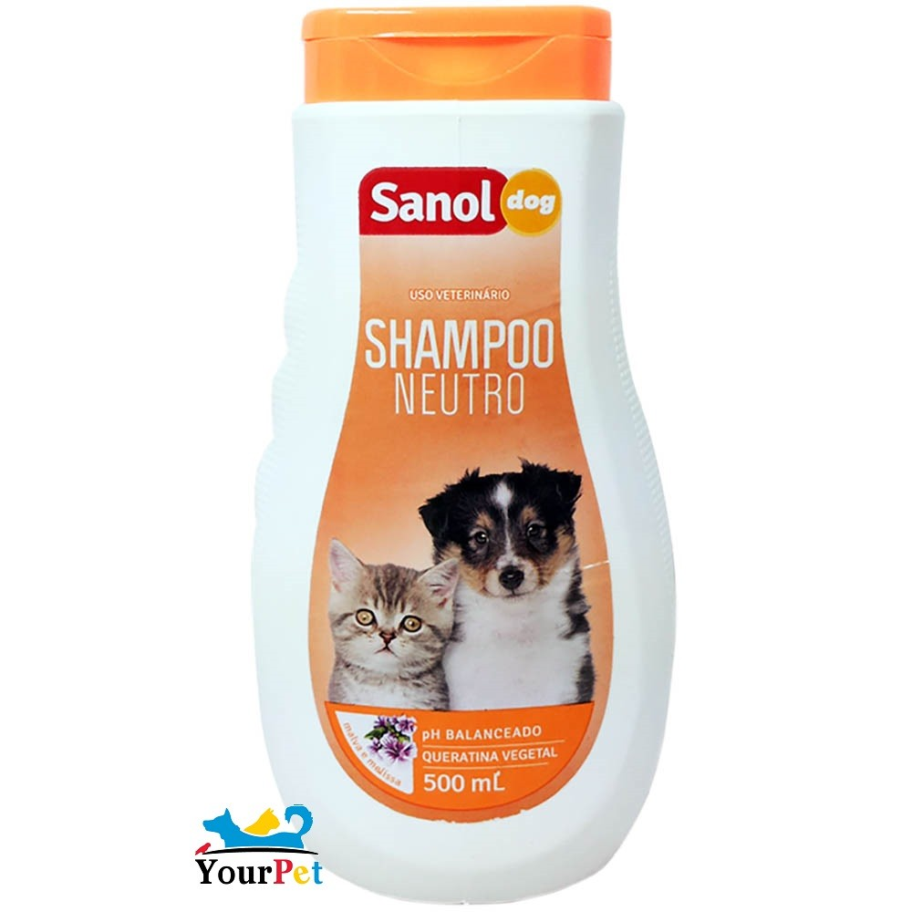 Shampoo Neutro Sanol Dog para Cães e Gatos - Sanol (500 ml)