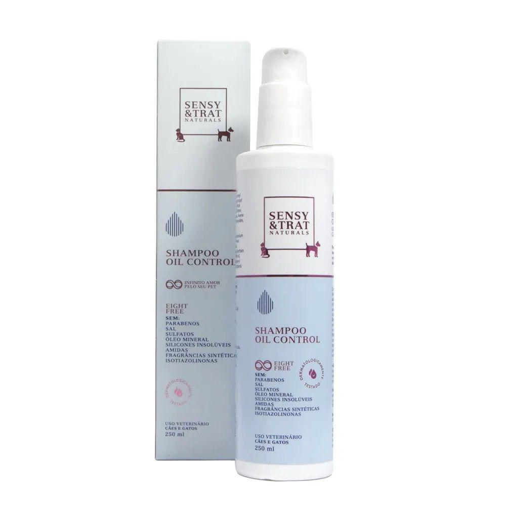 Shampoo Oil Control Sensy & Trat Regula a secreção sebácea das peles oleosas de Cães E Gatos (250 Ml)