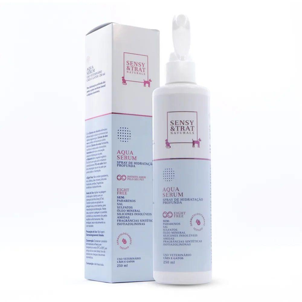 Spray de Hidratação Profunda Aqua Serum Sensy & Trat Hidratação profunda dos pelos e peles secos e atópicos (250 ml)