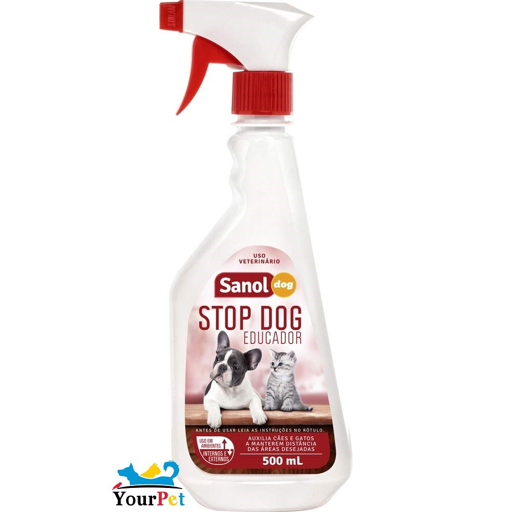 Stop Dog Educador Sanol Dog para Cães e Gatos - Total Química (500 ml)