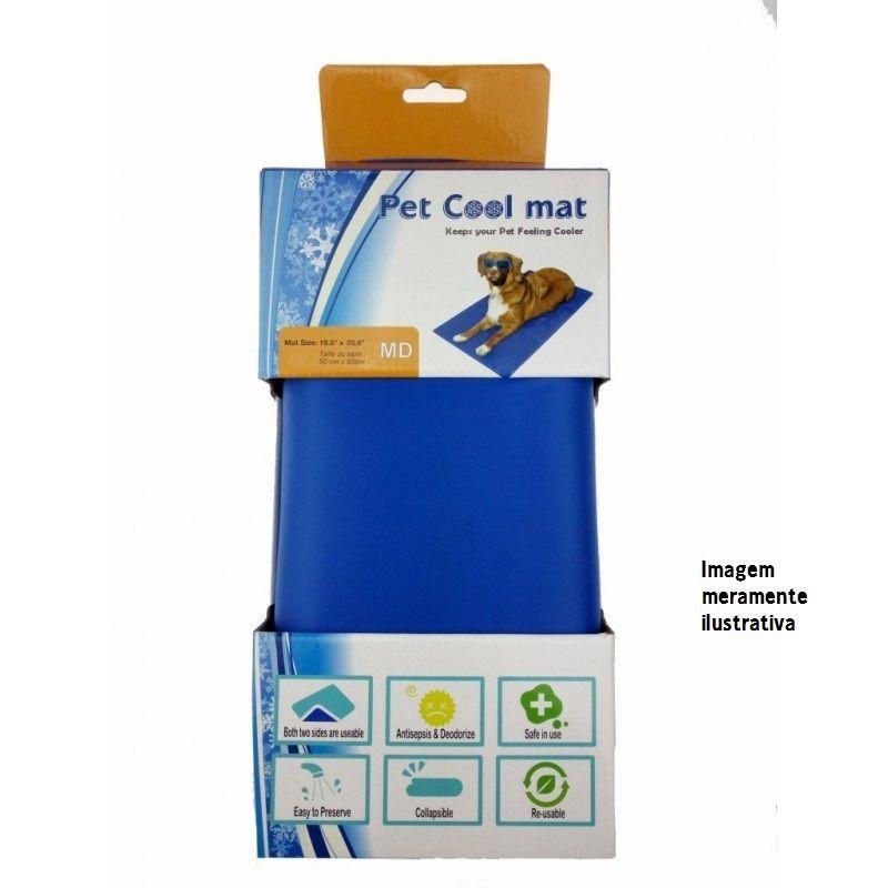 Tapete Gelado 90 x 50 cm para Cães e Gatos - Pet Cool Mat (Rosa)
