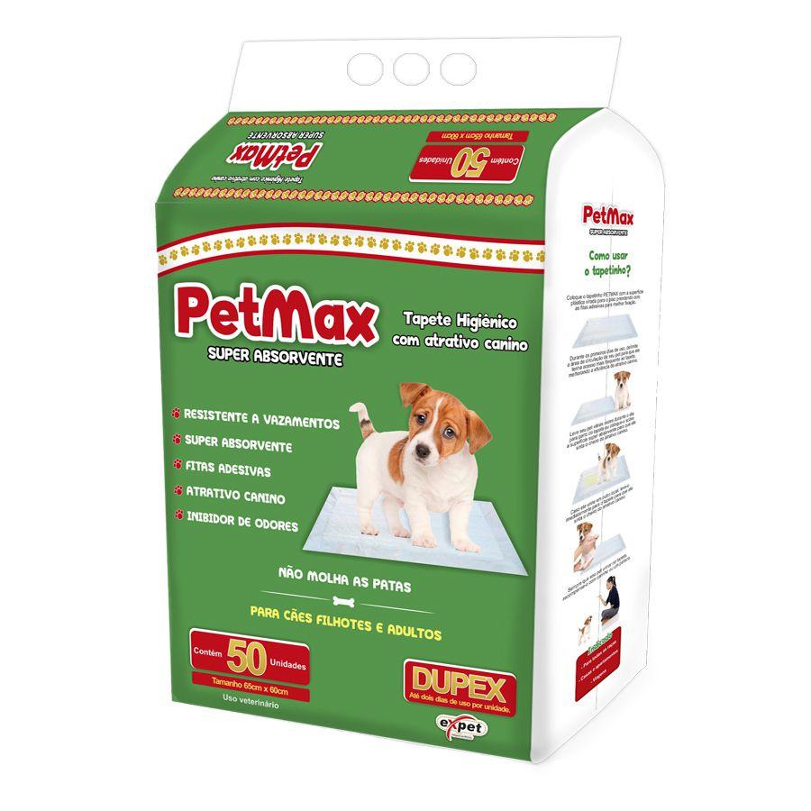 Tapete Higiênico Pet Max para Cães de todas as raças e idades 65 x 60 cm - Expet (50 unidades)