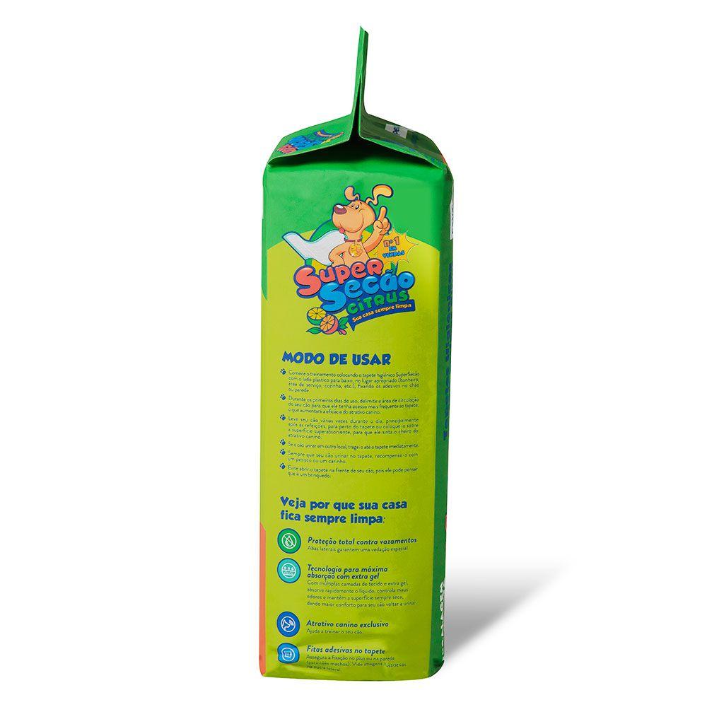Tapete Higiênico Super Secão Citrus 80 x 60 cm Petix (30 unidades)