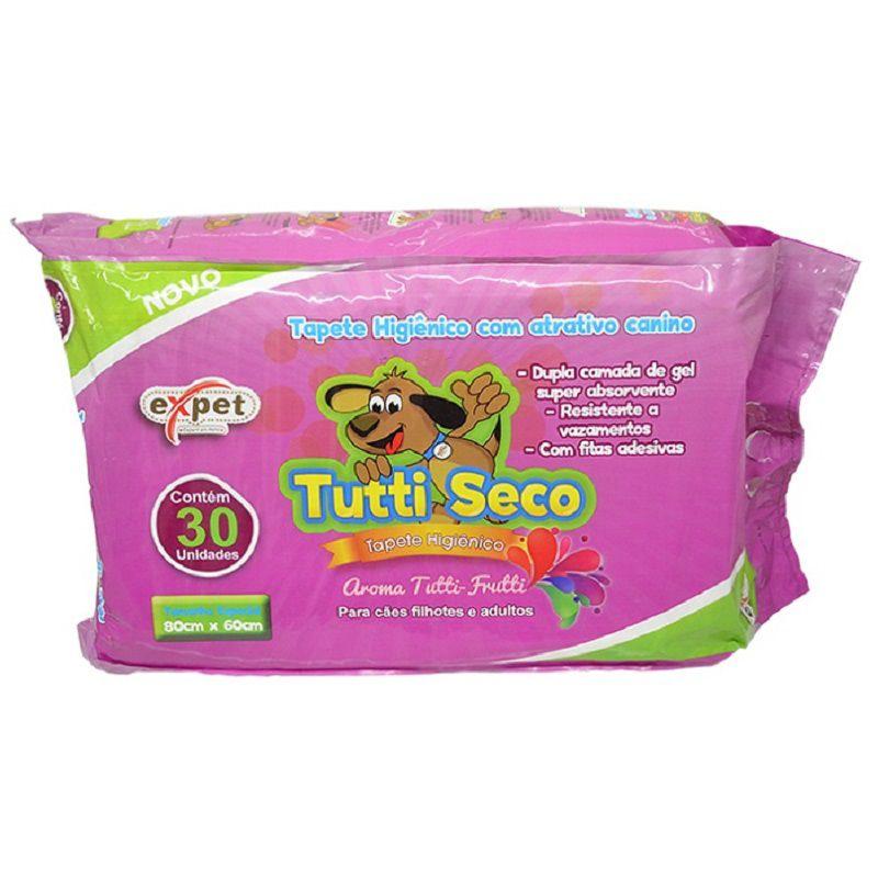 Tapete Higiênico Tutti Seco com perfume para Cães de todas as raças e idades 80 x 60 cm - Expet (30 unidades)