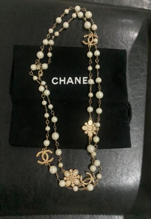 Colar Chanel Pérola Original