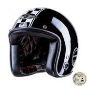 Capacete Lucca Customs Glossy Black