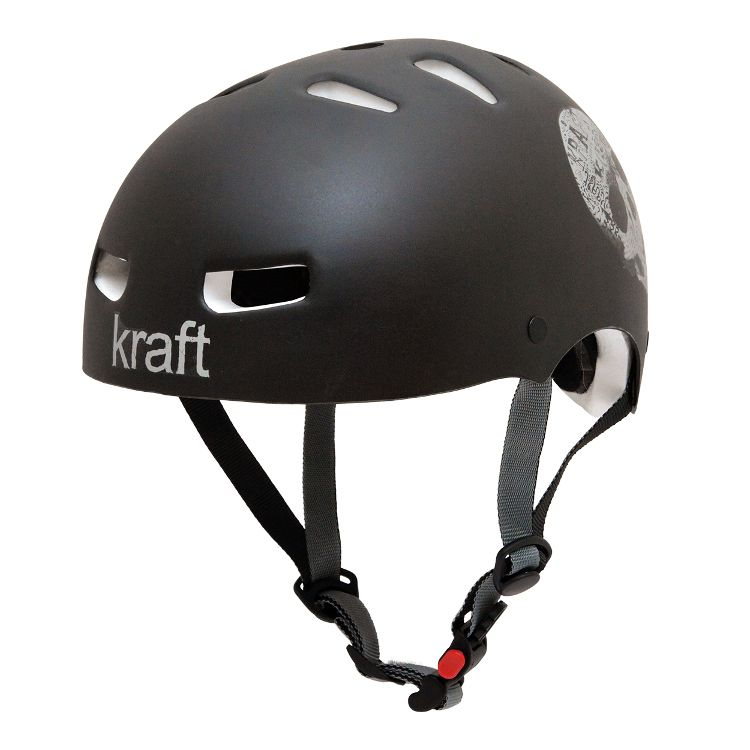 Capacete Kraft Bike Caveira Black