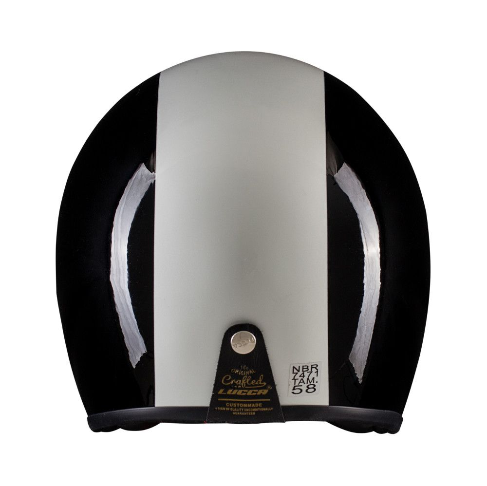 Capacete Lucca Customs Glossy Black White