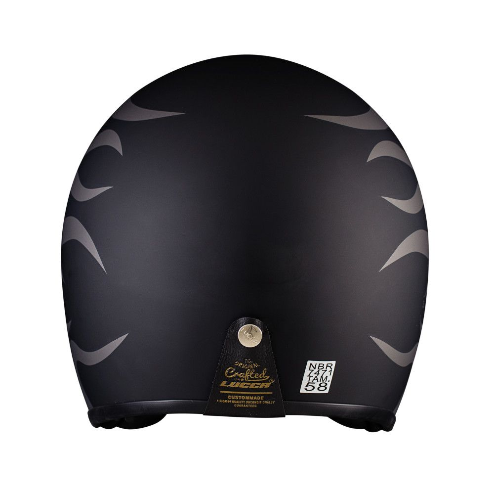 Capacete Lucca Customs Matt Black Gray