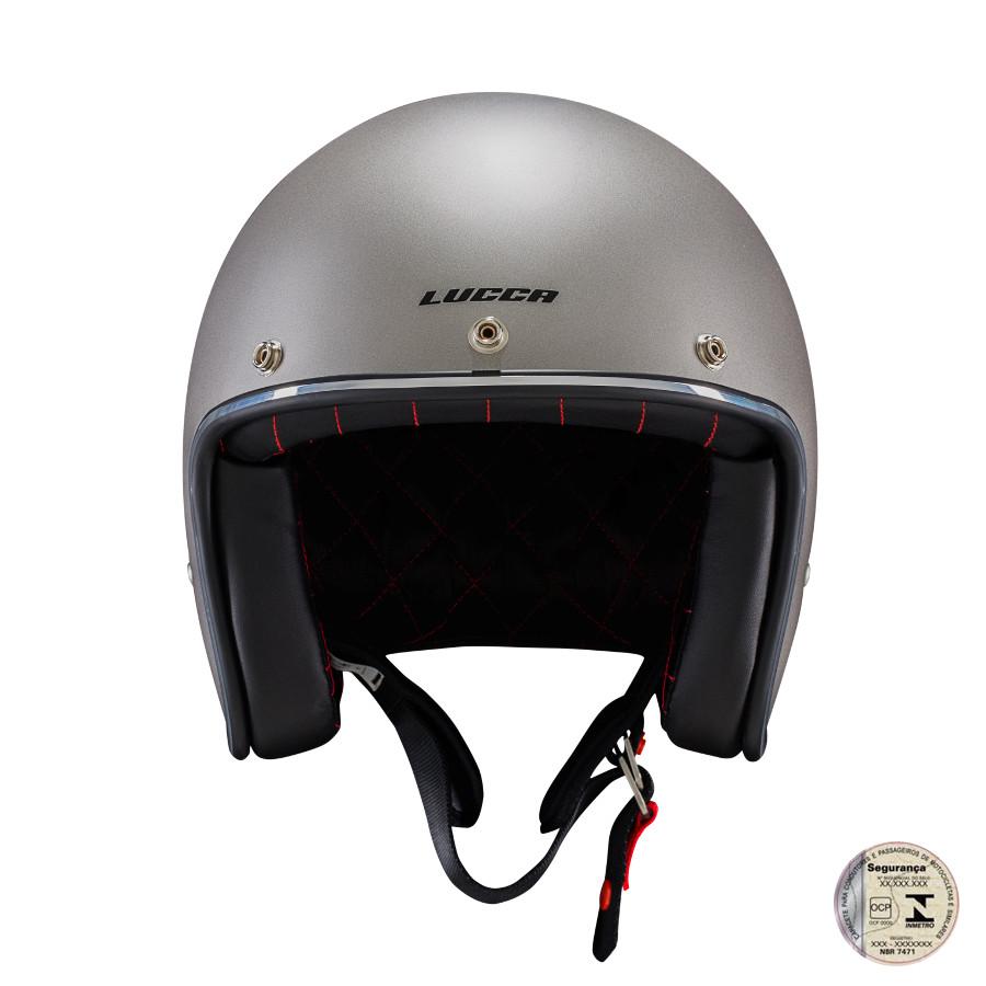 Capacete Lucca Customs Metalic Matt Grey