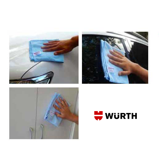 Pano - Flanela de Microfibra Wurth - Pacote com 4 Unidades