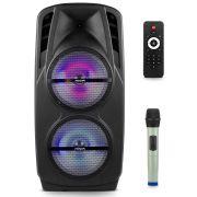 Caixa De Som Ativa Com Bateria Frahm Cm1800 + Microfone Uhf