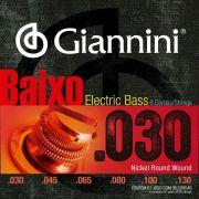 ENCORDOAMENTO GIANNINI BAIXO GEEBRL/6 LEVE NIQUEL 0.030