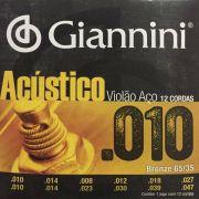 ENCORDOAMENTO GIANNINI VIOLAO 12 CORDAS GESWA12