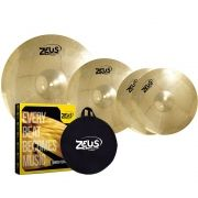 KIT DE PRATO ZEUS BEGINNER BRASS SET C 14 16 20 COM BAG