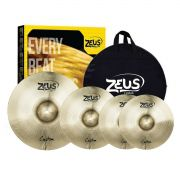 Kit De Pratos Zeus B20 Custom Set C 14 16 20 Com Bag