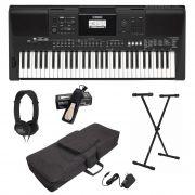 Kit Teclado Musical Yamaha Psr E463 + Capa Suporte Pedal Fone