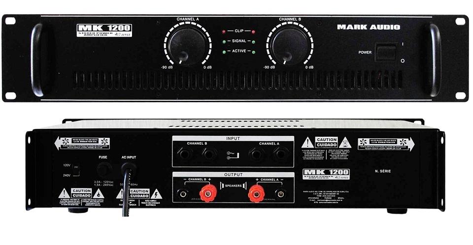 AMPLIFICADOR MARK AUDIO MK1200/B 200W - COD. PROD.7980