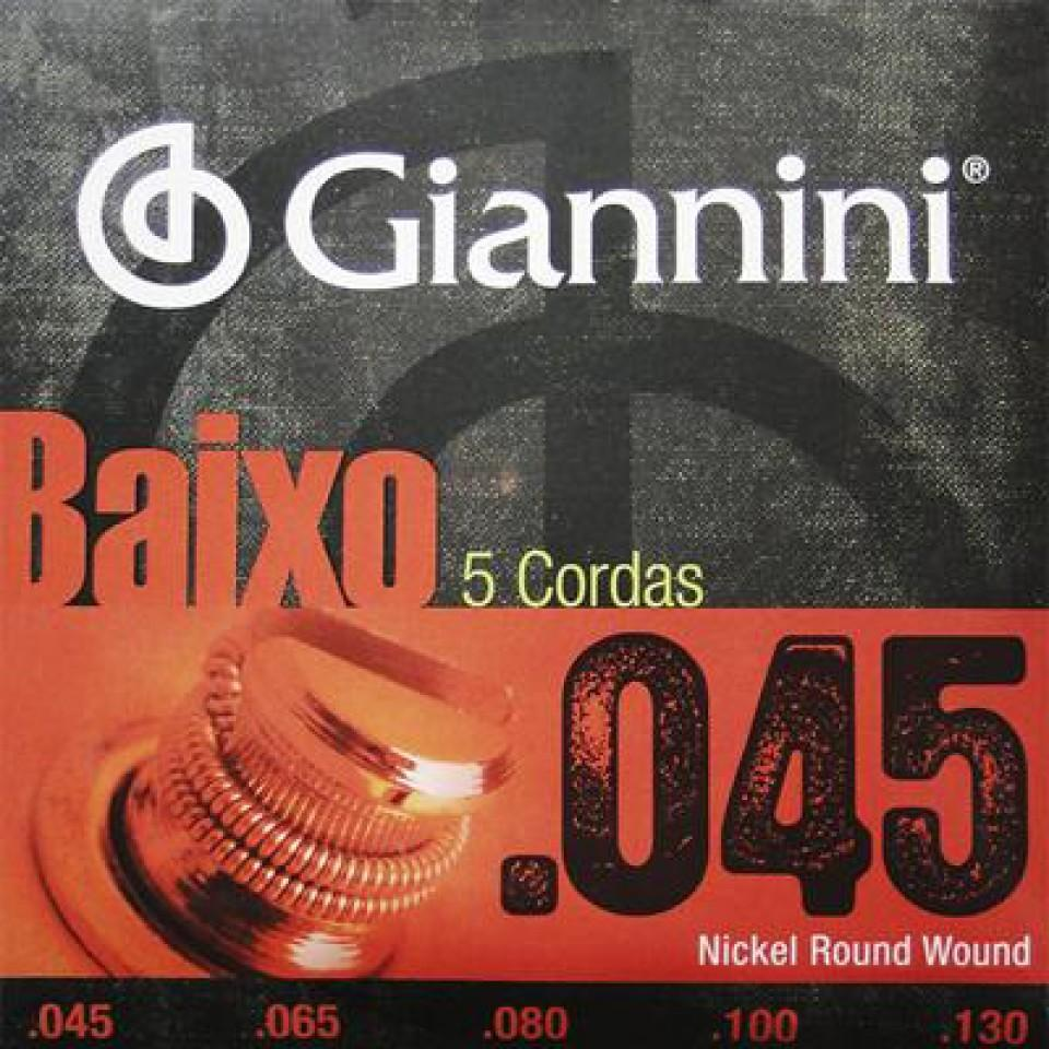 ENCORDOAMENTO GIANNINI BAIXO PESADO 0.045 5COR GEEBRS 5