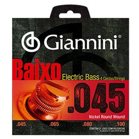 ENCORDOAMENTO GIANNINI BAIXO PESADO 0.045 GEEBRS