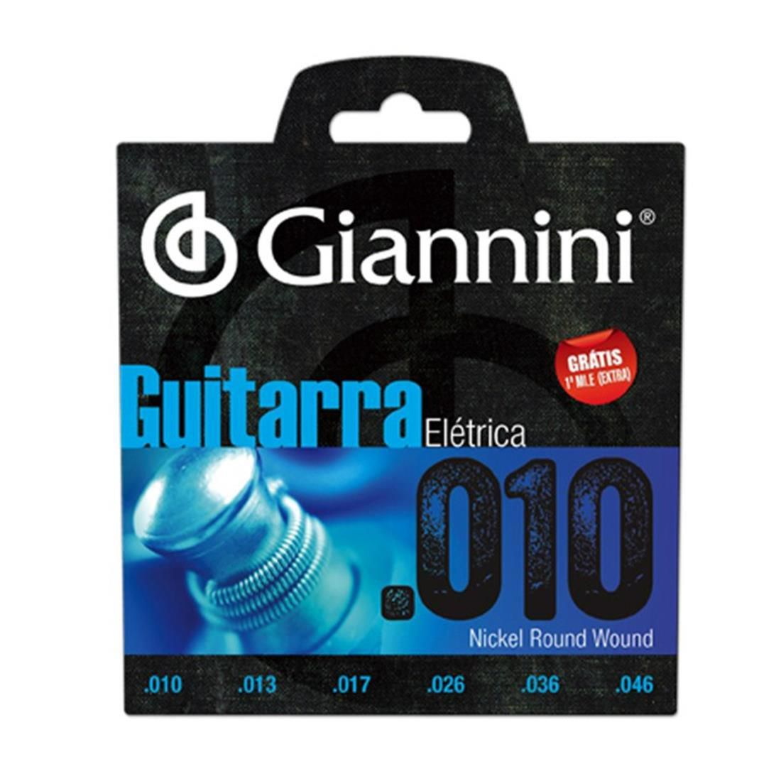 ENCORDOAMENTO GIANNINI GUITARRA 010 GEEGST10
