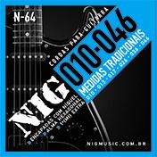 ENCORDOAMENTO NIG GUITARRA 010 TRAD N64