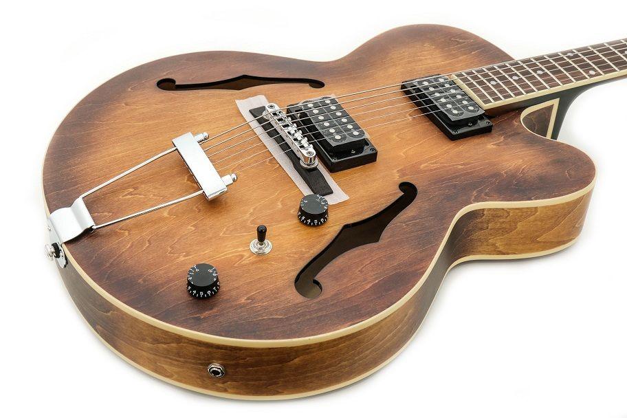 Guitarra Ibanez Semi-acústica Af55 + Estojo Retangular Madeira