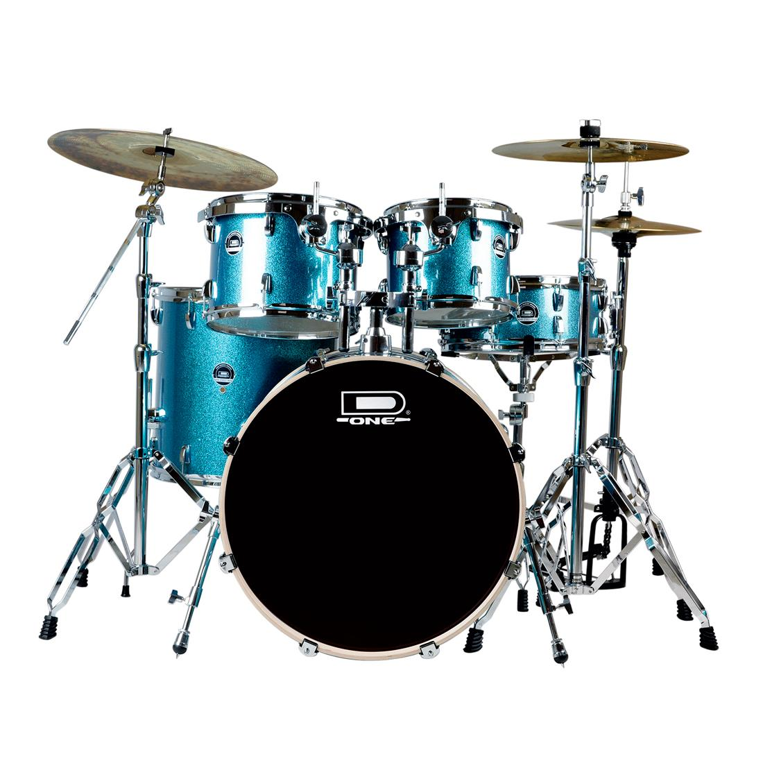 KIT BATERIA D ONE STREET DS20 BLUE + KIT PRATO ZEUS EVOLUTION PRO SET D + ESTANTE GIRAFA EXTRA