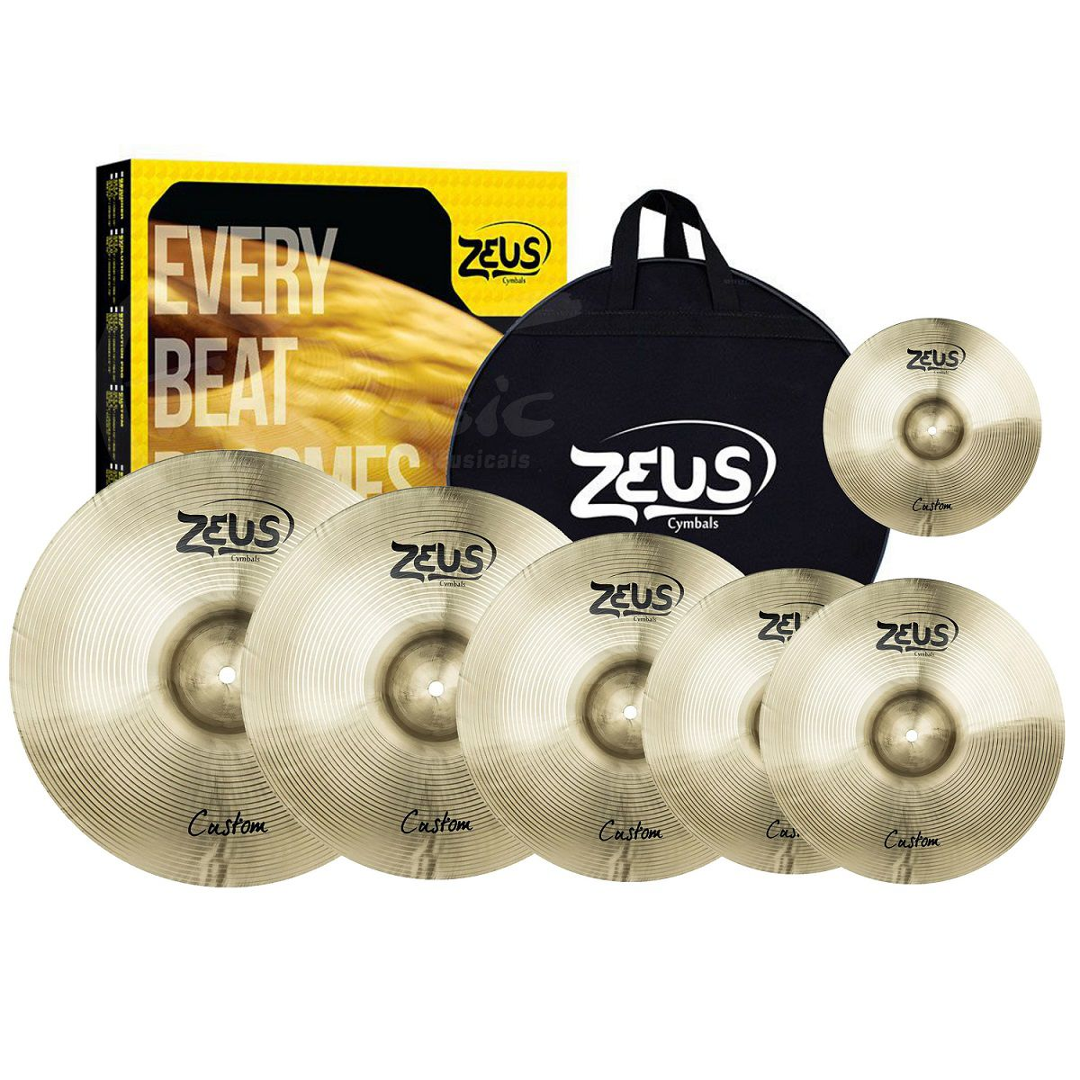 KIT DE PRATO ZEUS B20 CUSTOM SET E 10 14 16 18 20 COM BAG