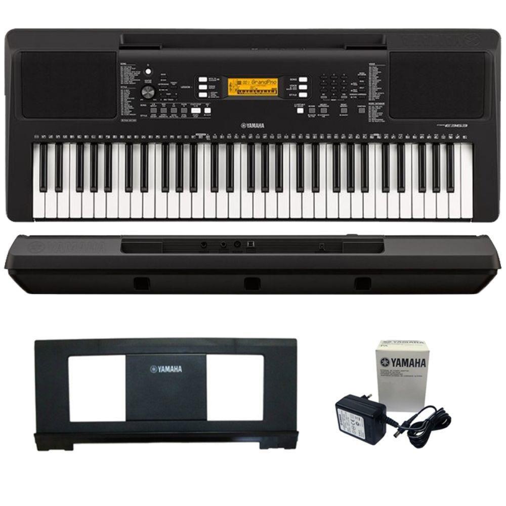 Kit Teclado Musical Yamaha Psr E363 + Capa Suporte