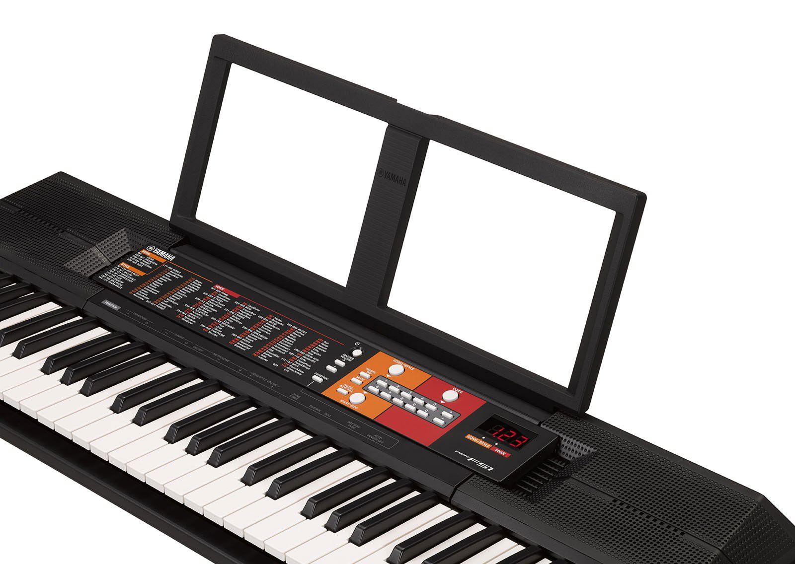 Kit Teclado Musical Yamaha Psr F51 + Suporte Capa