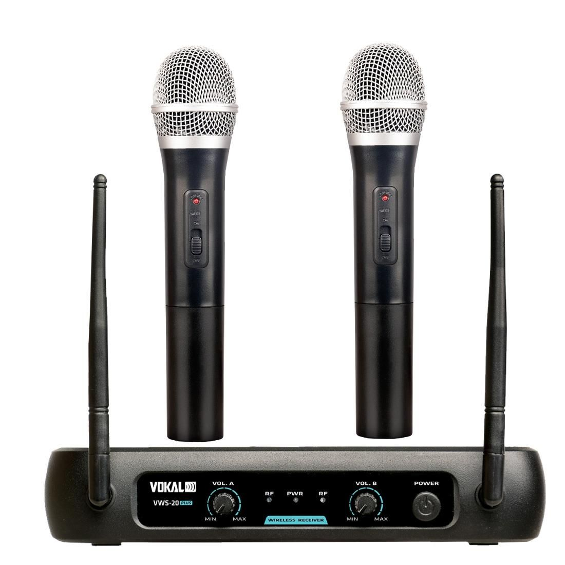 MICROFONE SEM FIO VOKAL VWS20 PLUS VHF DUPLO