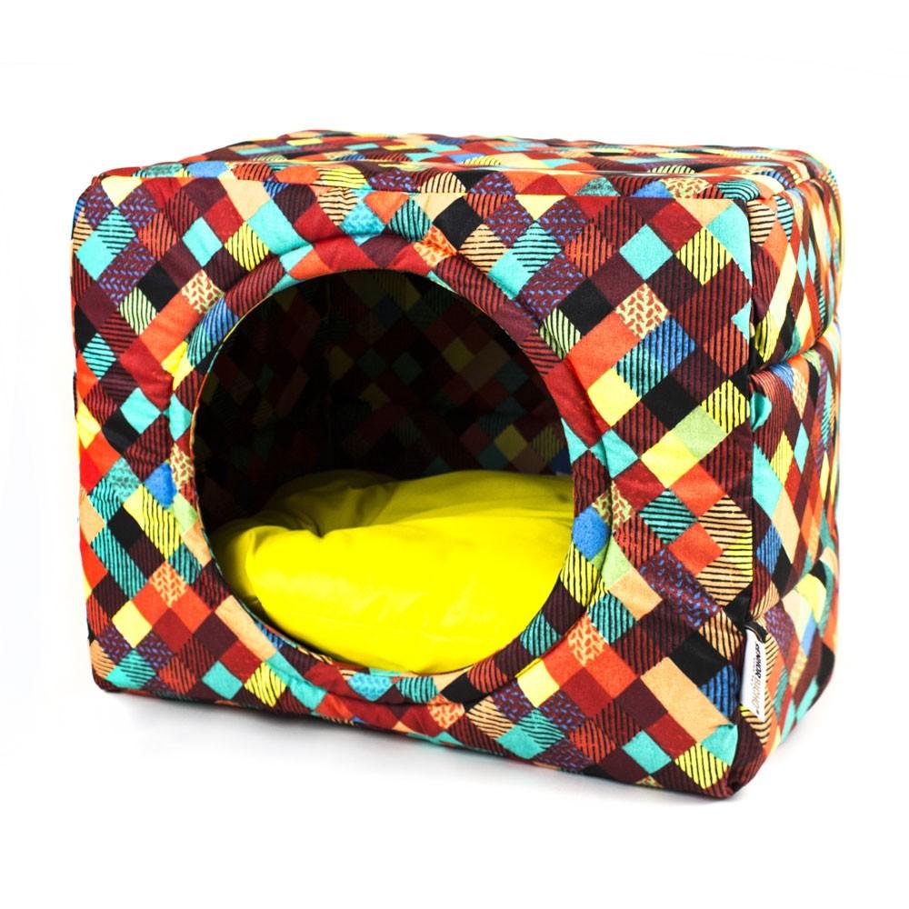 Cama Pet para Cachorro e Gato Cubo Premium (M) - Colors Amarelo