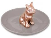 Porta Bijoux Cachorro Dourado Mart em Cerâmica 8942 Mart