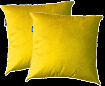 2 Capas Almofada Suede Lisa Amarelo
